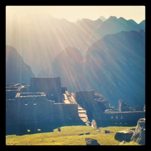 Morning Light at Machu Picchu