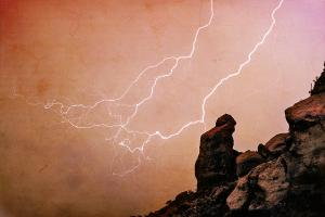 2-praying-monk-camelback-mountain-lightning-monsoon-storm-image-tx-james-bo-insogna